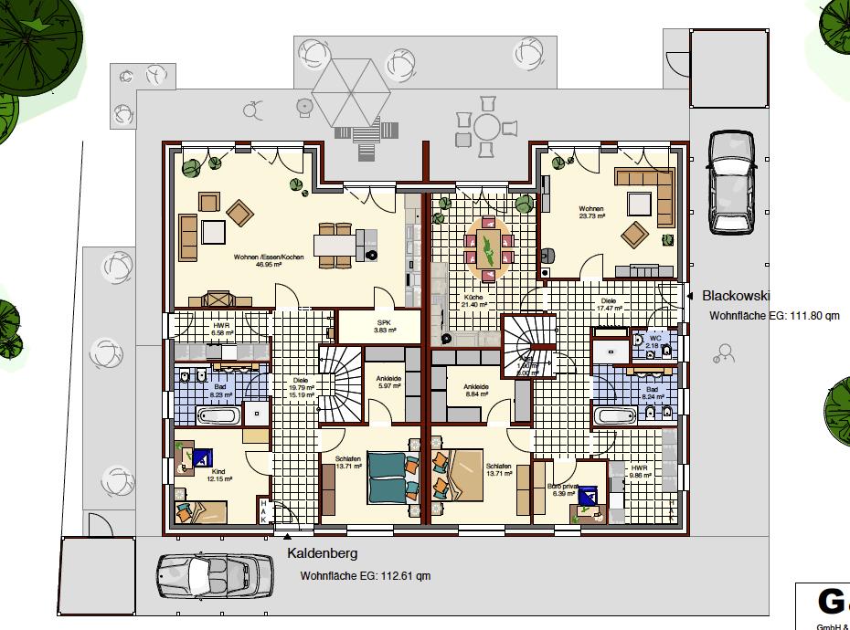 Doppelhaus Bungalow Amazing Einfacher Bungalow Hanse Haus With